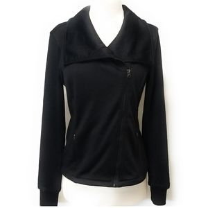HEAD Sports Womens Black Moto Jacket Coat Size S